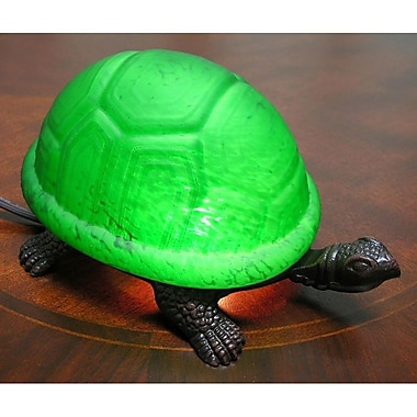 Warehouse of Tiffany Turtle Accent 4'' Table Lamp