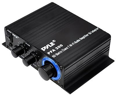 Pyle® PFA200 60 W Class-T Hi-Fi Audio Amplifier, Black