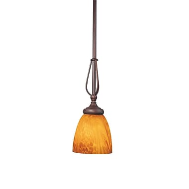 Woodbridge Kenshaw 1-Light Mini Pendant; Bordeaux
