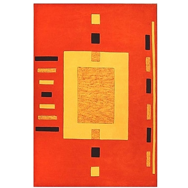 Acura Rugs Contempo Orange/Yellow Area Rug; 8' x 10'6''