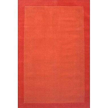 Acura Rugs Loom Orange/Dark Orange Rug; 5' x 8'