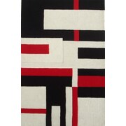 Acura Rugs Modern Cool Red/White Area Rug; 5' x 8'