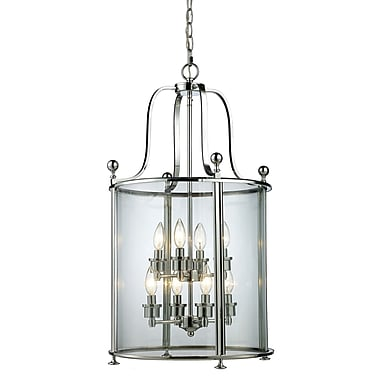 Z-Lite Wyndham 8-Light Foyer Pendant; Chrome