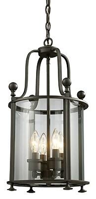 Z-Lite Wyndham 4-Light Foyer Pendant; Bronze