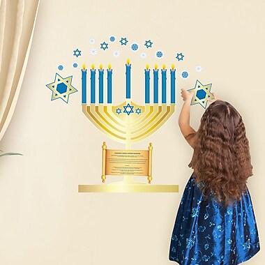 Mona Melisa Designs Winter Holidays Hanukkah Menorah Wall Decal Set