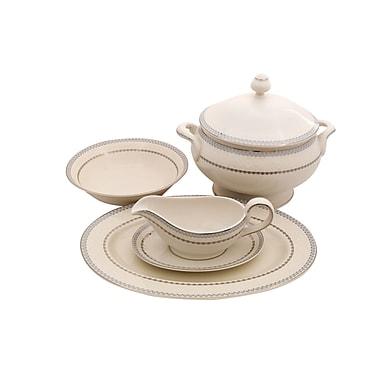 Shinepukur Ceramics USA, Inc. Wik Ivory China Special Serving 5 Piece Dinnerware Set