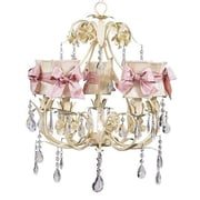 Jubilee Collection Ballroom 5-Light Shaded Chandelier; Ivory Hourglass