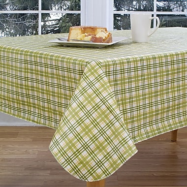 Elrene Home Fashions Homestead Plaid 70'' Round Vinyl Tablecloth