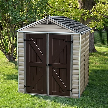 Palram SkyLight? 6 ft. 1 in. W x 5 ft. D Plastic Storage Shed