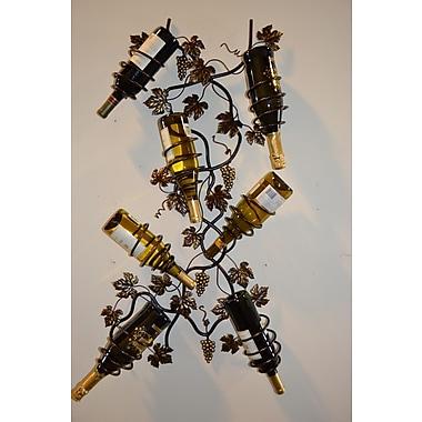 J & J Wire 7 Bottle Wall Mounted Wine Rack