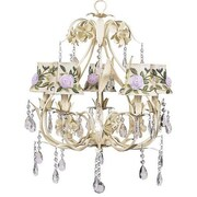 Jubilee Collection Ballroom 5-Light Shaded Chandelier; Rose Net Flower Ivory