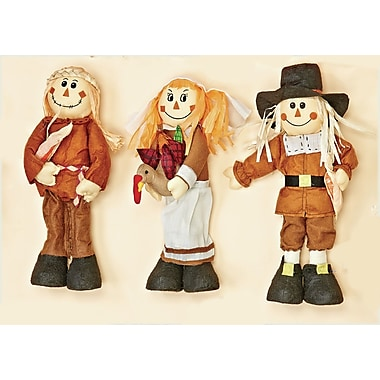 Worth Imports 3 Piece Standing Pilgrims and Indian Set