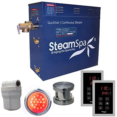 Steam Spa Royal 6 kW QuickStart Steam Bath Generator Package; Brushed Nickel