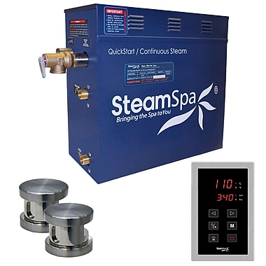 Steam Spa Oasis 12 kW QuickStart Steam Bath Generator Package; Oil Rubbed Bronze
