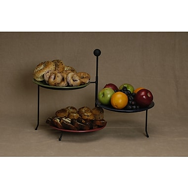 J & J Wire Triple Tiered Plate Stand