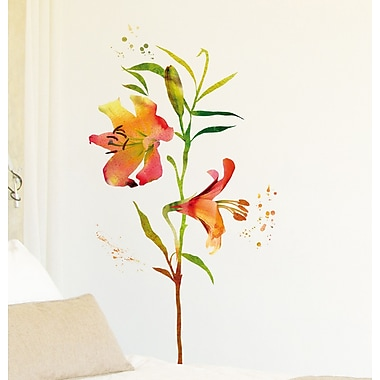 WallPops! Home Decor Line Watercolor Flowers Wall Decal