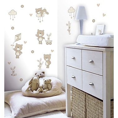 WallPops! Fun4Walls Bear and Boo Neutral Wall Decal