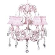 Jubilee Collection Ballroom 5-Light Shaded Chandelier; Petal Flower Pink