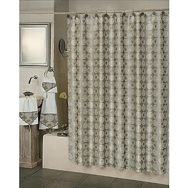 Dainty Home Twilight Polyester Shower Curtain; Silver
