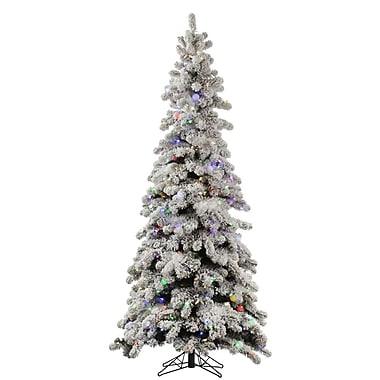 Vickerman 120' Flocked Artificial Christmas Tree w/ 1100 LED Warm White Lights
