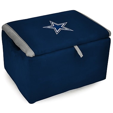 Imperial NFL Upholstered Storage Ottoman; Dallas Cowboys