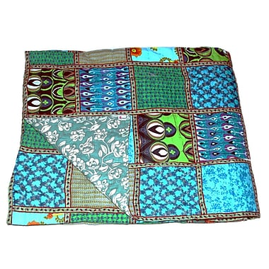 Timbergirl Cotton Block Print Patchwork Quilt