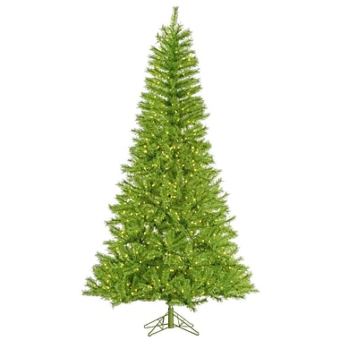 Vickerman 9' Lime/Green Tinsel Artificial Christmas Tree with 1000 LED Lime Lights
