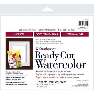 Strathmore 500 Series Hot Press Ready Cut Watercolor Sheet Pack