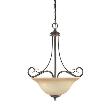 Designers Fountain Stratton 3-Light Inverted Pendant; Amber Sandstone