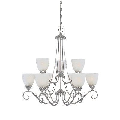 Designers Fountain Stratton 9-Light Shaded Chandelier