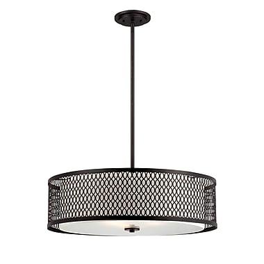 Designers Fountain Continental 3-Light Drum Pendant; 26'' W