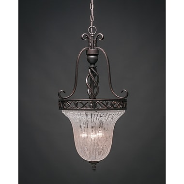 Toltec Lighting Elegant 3-Light Foyer Pendant; Italian Ice