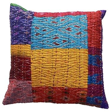Timbergirl Silk Kantha VIntage Pillow Cover