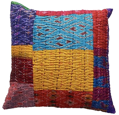 Timbergirl Silk Kantha VIntage Pillow Cover