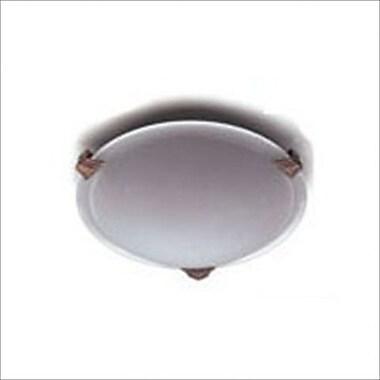 PLC Lighting Valencia 12'' Flush Mount; Polished Chrome / 3'' H x 8'' W / G9