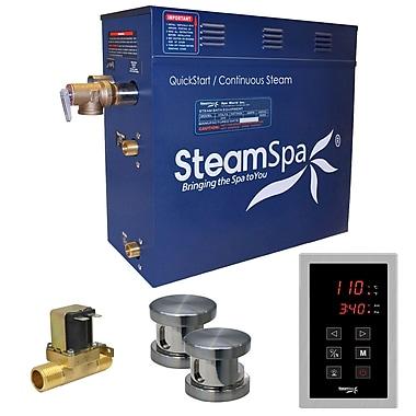 Steam Spa Oasis 12 kW QuickStart Steam Bath Generator Package w/ Built-in Auto Drain
