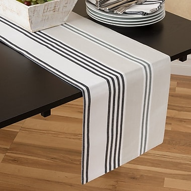Linen Tablecloth Stripes Table Runner