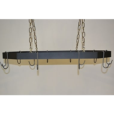 J & J Wire Hanging Pot and Pan Rack; Nickel