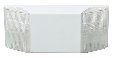 Morris Products Prism Exit Emergency Lighting Unit in White