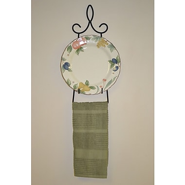 J & J Wire Wall Mounted Plate/Towel Holder
