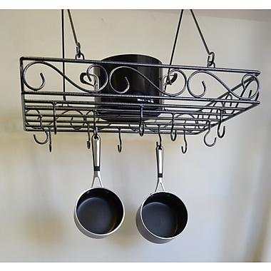 J & J Wire Pot and Pan Rack; Dark Pewter