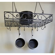 J & J Wire Pot and Pan Rack; Dark Pewter