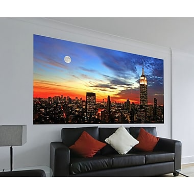 WallPops! Home Decor Line City Sunset 6.6' x 38.6'' Wall Mural
