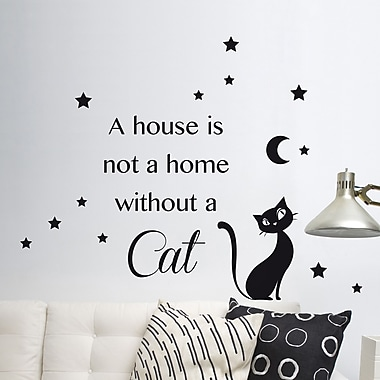 WallPops! Home Decor Line Cat Silhouette Wall Decal