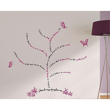 WallPops! Home Decor Line I Believe Quote Wall Decal