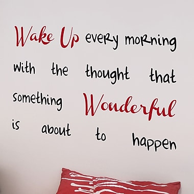 WallPops! Home Decor Line Wake Up Quote Wall Decal