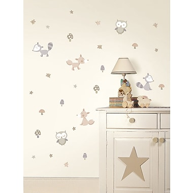 WallPops! Fun4Walls Forest Friends Neutral Wall Decal
