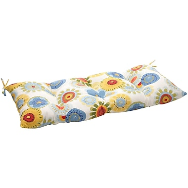 Pillow Perfect Floral Outdoor Loveseat Cushion; Multicolored Floral