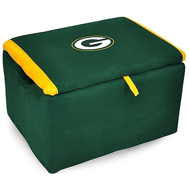 Imperial NFL Upholstered Storage Ottoman; Green Bay Packers
