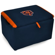 Imperial NFL Upholstered Storage Ottoman; Chicago Bears